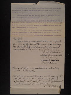 A page of text, some typed, some handwritten.
