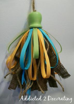 Diy Make A Burlap Amp Ribbon Tassel Addicted 2 Decorating 174