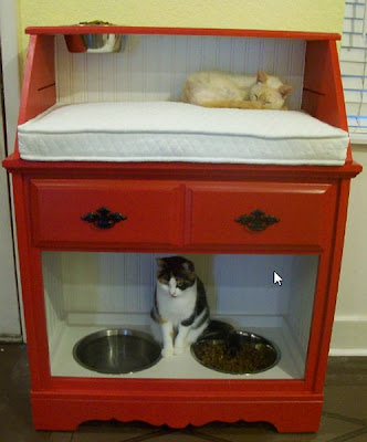 Repurpose an Old Desk into a Pet Station | Repurpose Furniture: The Best Way To Upgrade Your Home Living Economically