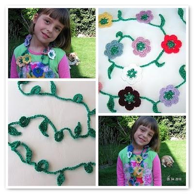 Crochet Flower Chain - Häkelblumenkette