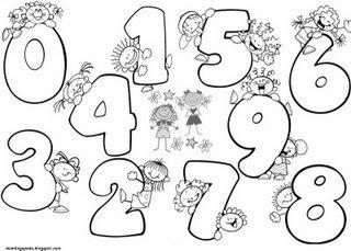 Jugando con los números.: Los Números en el Jardín.