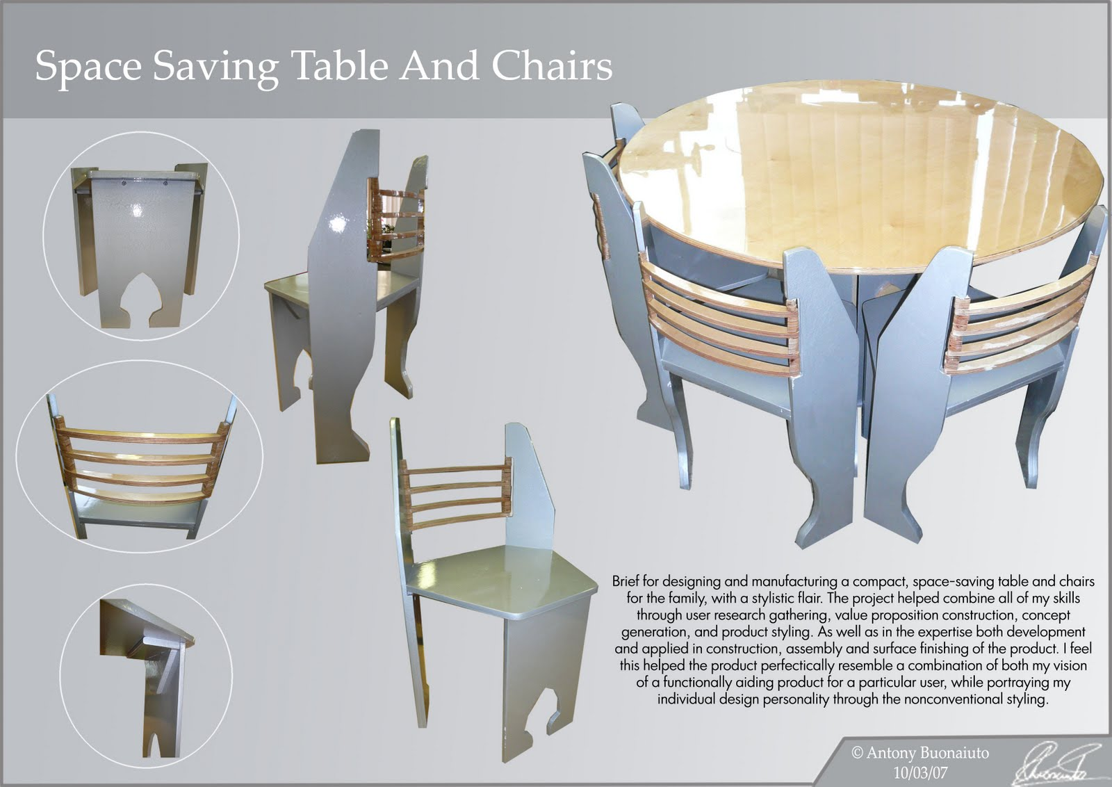 Space Saving Table And Chairs Space Saving Table And Chairs Antony Buonaiuto 39s Portfolio