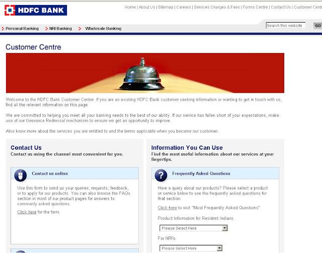 hdfc netbanking credit card customer care hyderabad