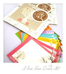 12 PPCS I love Tree Note Cards for PHP 170