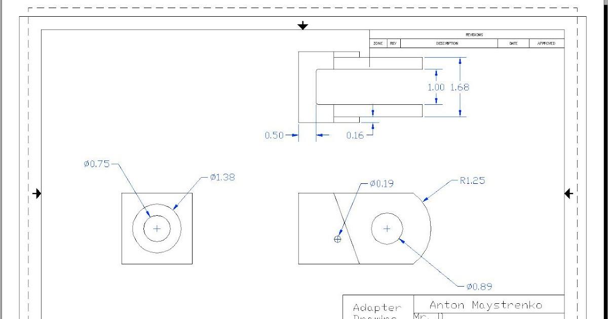 Anton's Blog?: Auto CAD Adapter Drawing
