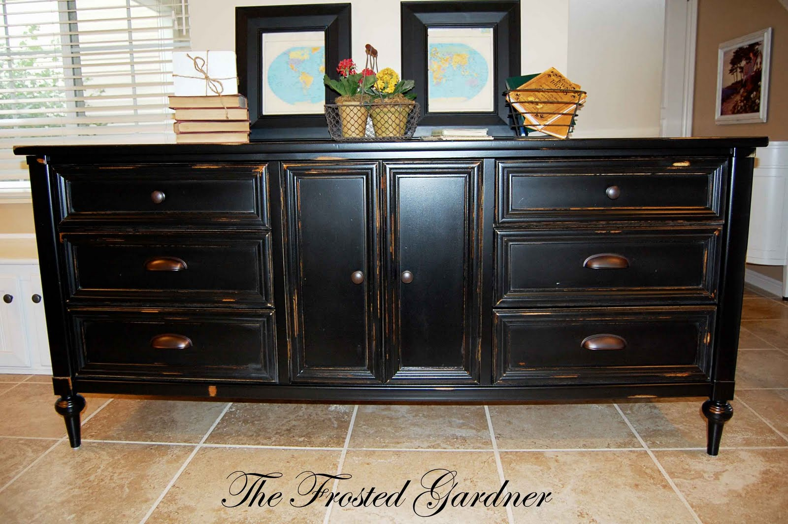 The Frosted Gardner The West Dresser Custom Refinish