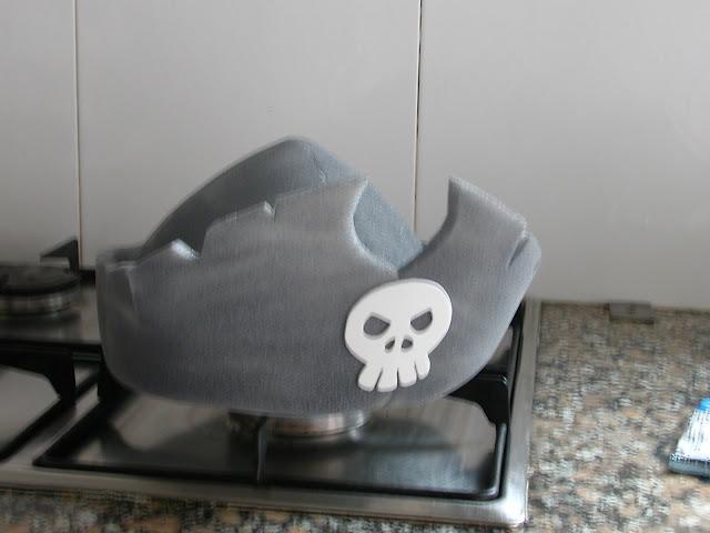 Hacer sombrero de pirata con patrones