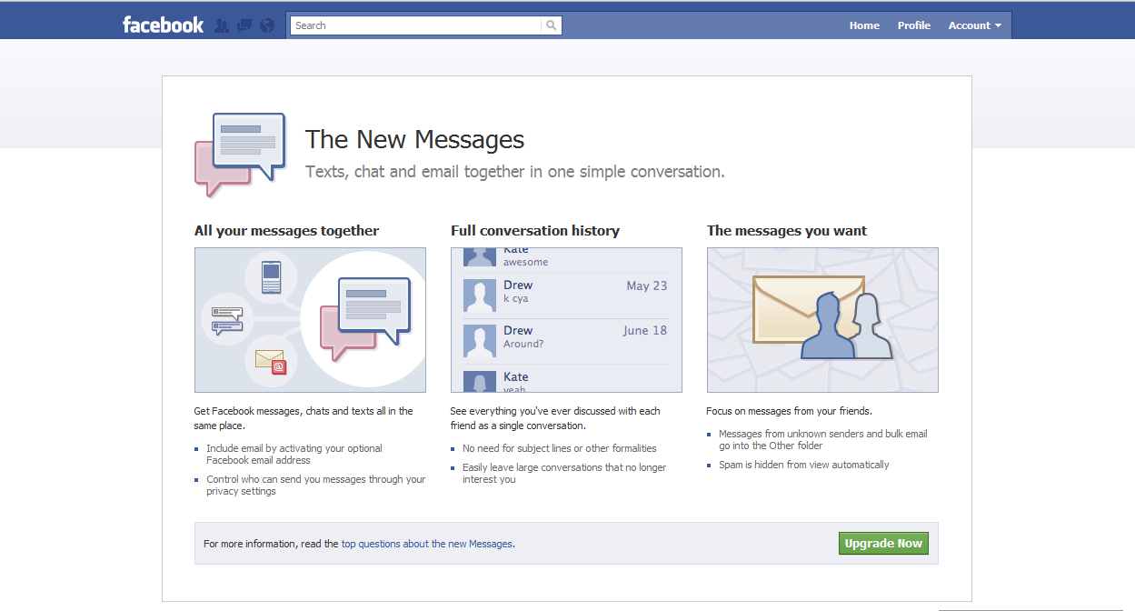 Facebook - at the Center of Your Messaging Life | Scott