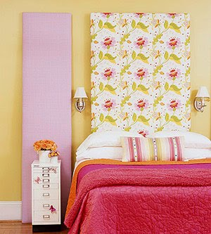 Helen's Corner: Easy Home Decor Craft - Fabric Panel Headboard