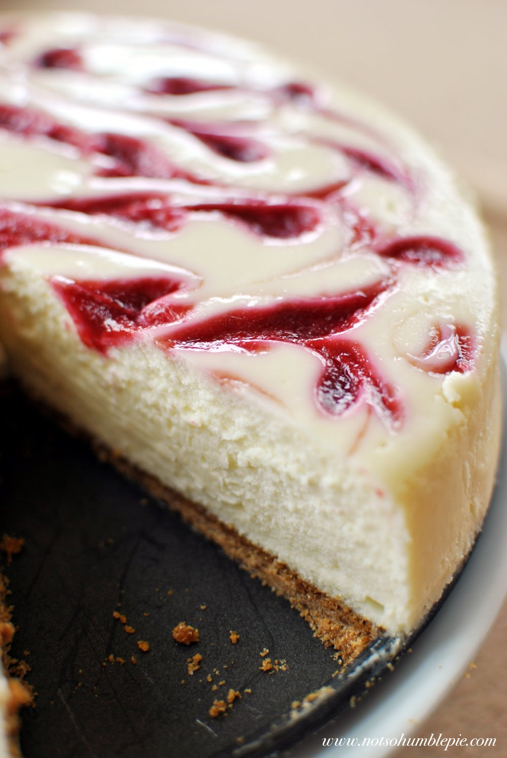 Not So Humble Pie Raspberry Swirl Cheesecake