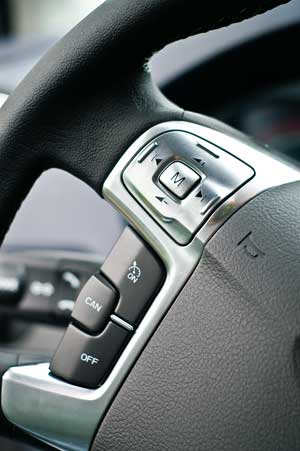 Steering wheel control buttons