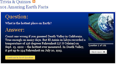 101 Amazing Earth Facts - In Trivia Quiz Format