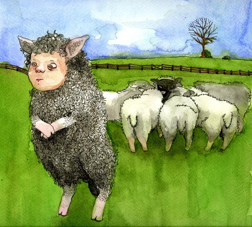Schaf Mit Menschengesicht