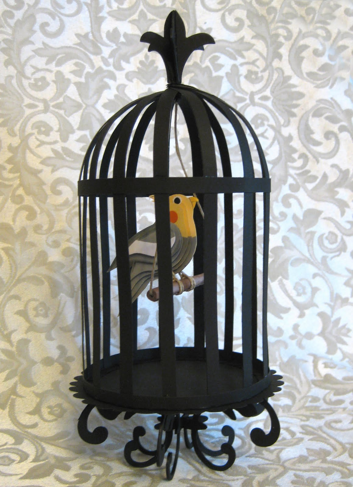 3 D Bird In A Cage Half Price