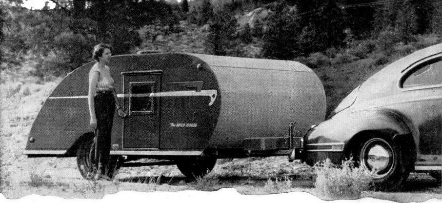 Vintage Teardrop Trailer Campers Chuck Wagon Plans Wild