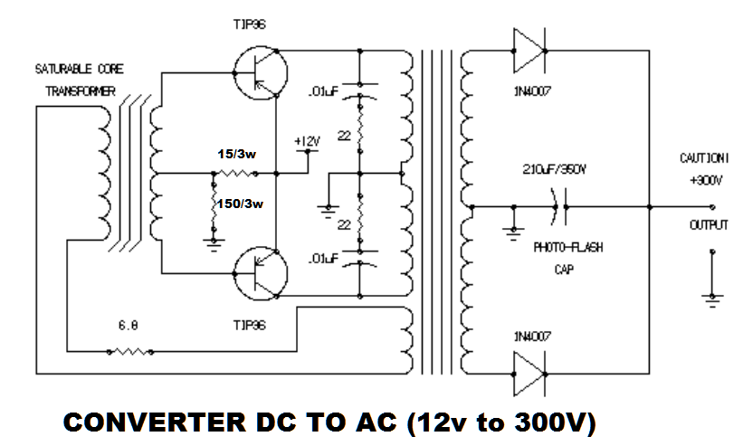 Download 12V Dc To Ac Converter Circuit Diagram