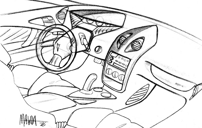 draganel magda design portfolio Pontiac Sunfire GT pontiac sunfire interior concept