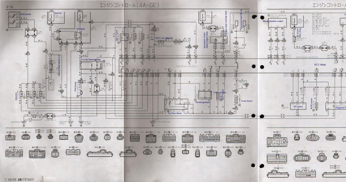 fiat coupe 20v wiring diagram 1946 ford coupe dash wiring diagram ae101 4age wiring diagram (4age 20v silvertop) - ben9166 #11