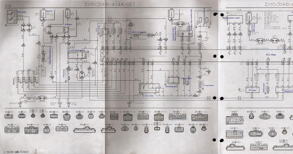AE101 4age wiring diagram (4AGE 20V Silvertop)  BEN9166
