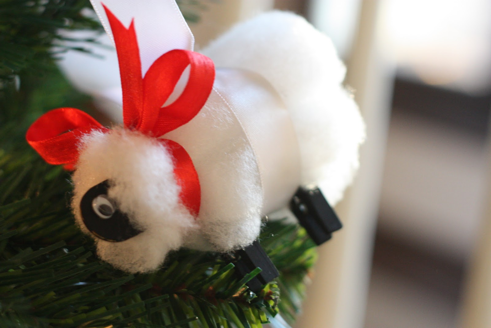 Sheep Ornaments Easy Christmas Sheep Craft I Can Teach My Child