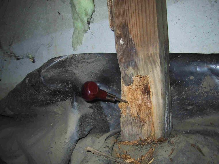Rotten Posts Should Be Removed From The Crawle And Replaced With Hardware Cloth Rodent Barrier
