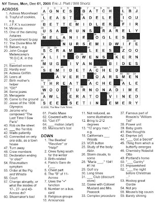 The New York Times Crossword in Gothic: 12.01.08