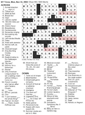 The New York Times Crossword in Gothic: 11.30.09 -- TRAP