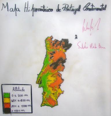 Geografia Positiva O Relevo De Portugal Continental