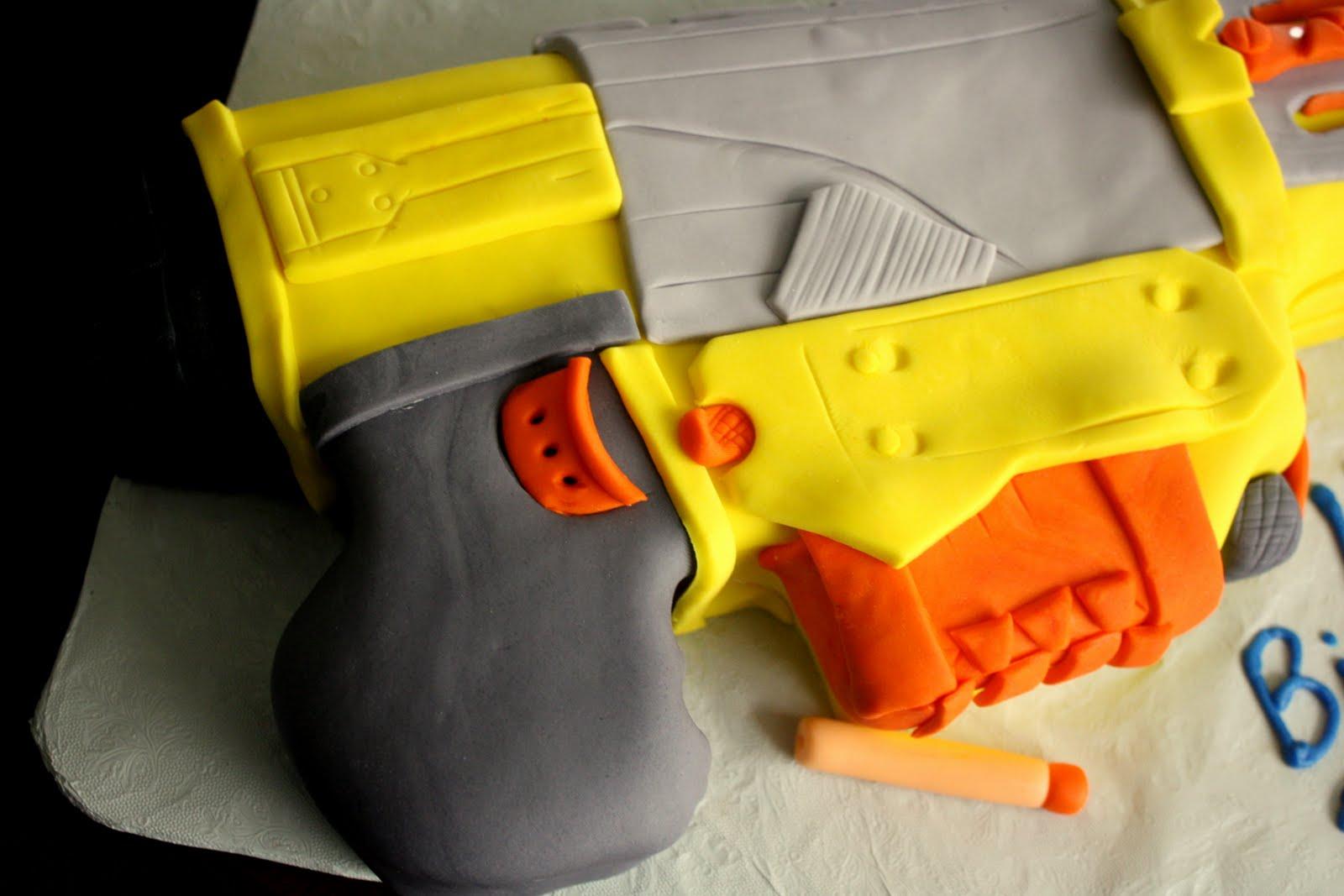 Claudine Nerf Gun Cake