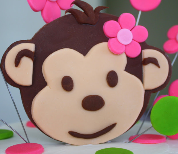 Claudine Pink Mod Monkey 1st Birthday