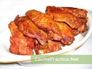 Presas de pollo cocinadas al horno, resultado de esta receta fácil y rápida
