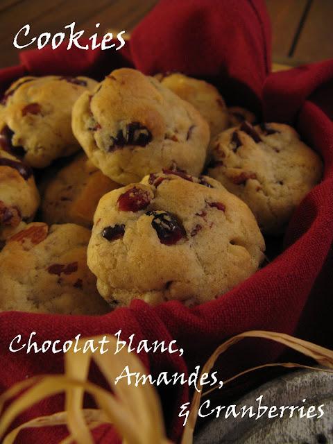 j 39 en reprendrai bien un bout cookies chocolat blanc amandes cranberries. Black Bedroom Furniture Sets. Home Design Ideas