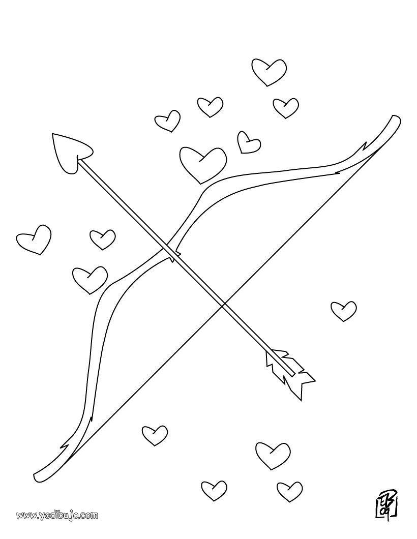 La plaza espa a poes a acr stico v olvido poes a for Bow and arrow coloring pages