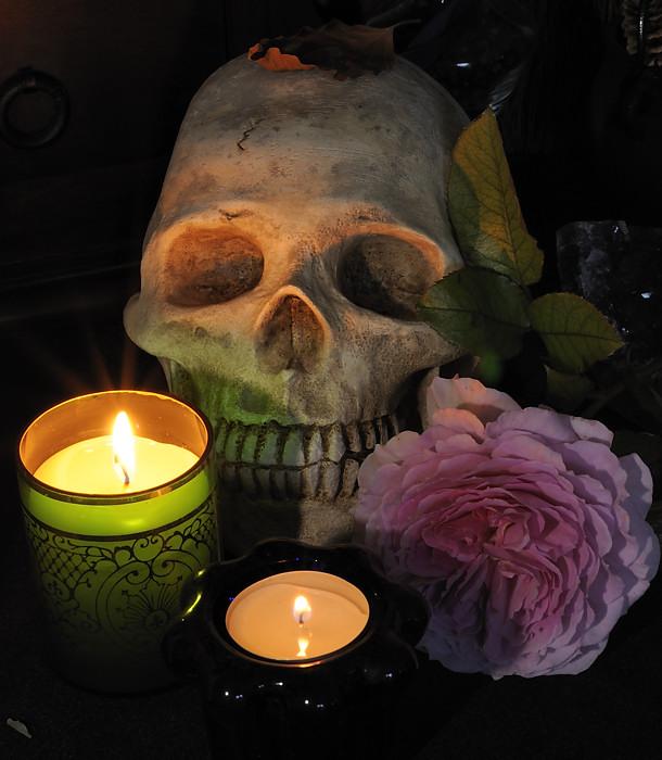 Halloween pumpkins 2010: Samhain Skull. Pattern by Zombie