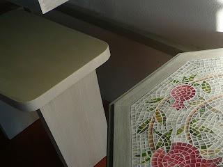 Hand painted, wooden table, how to decorate a simple wooden furniture ,faux mosaic, painting technique, piano di un tavolo in legno, decorato a mano, decorare un mobile semplice in legno, tecnica pittorica, finto mosaico dipinto