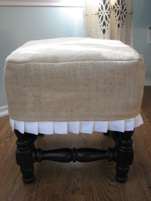 Our Nesting Ground: Footstool Slipcover