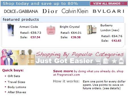 imagen de la tienda online fragancex