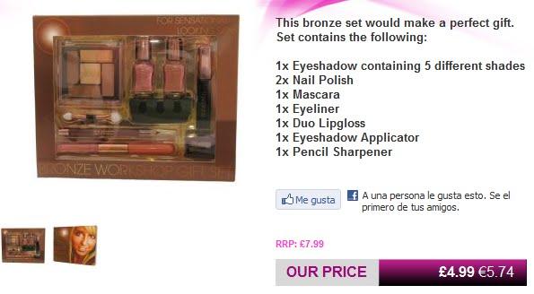imagen de la tienda online save on make up