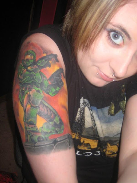 halo tattoo