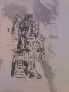 optimus prime graffitti art stencil