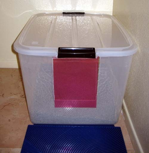 I Seam To Think Sew Kitty Litter Box Homemade