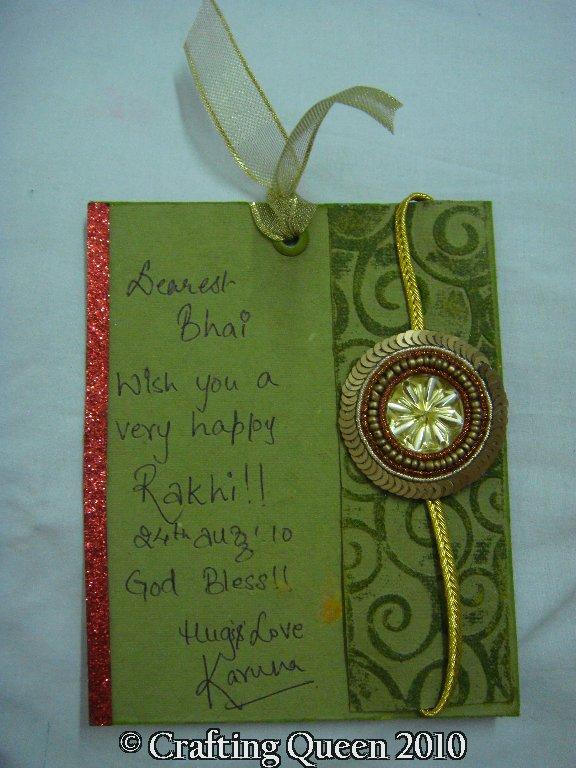 crafting queen rakhi card