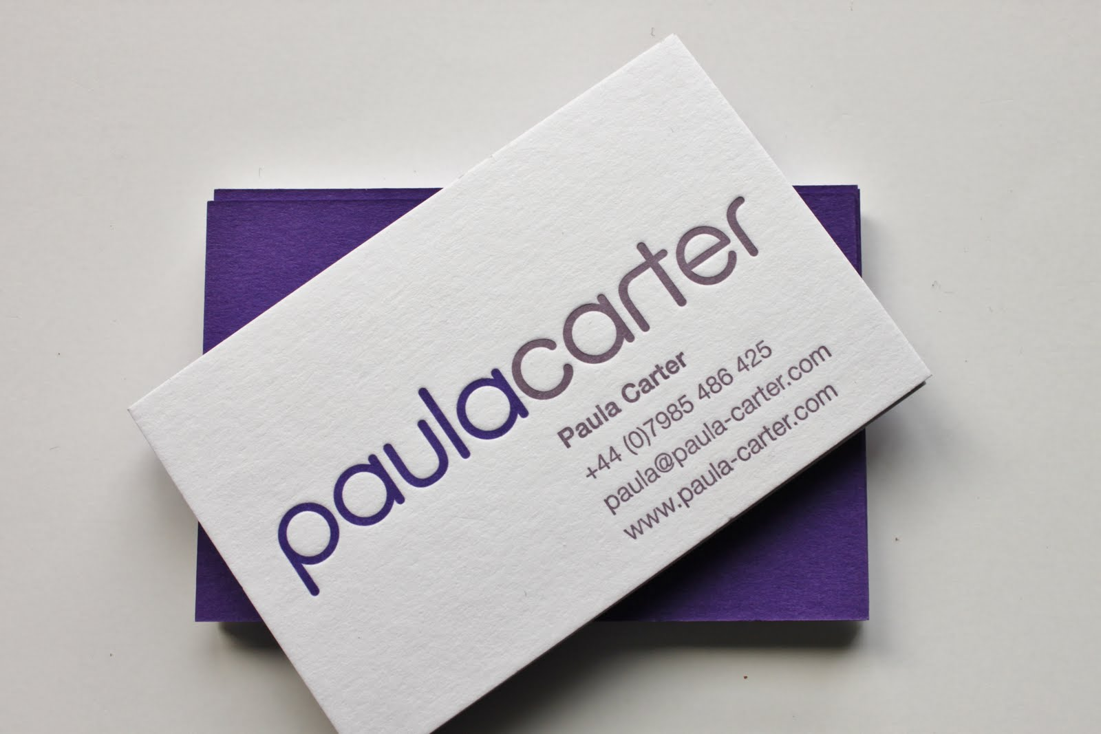 Letterpress printing paula carter project event management for Gm business card login
