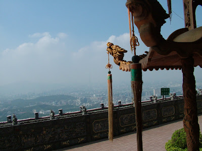 Taipei 101 and Taipei basin from the Bishan Temple, Neihu district