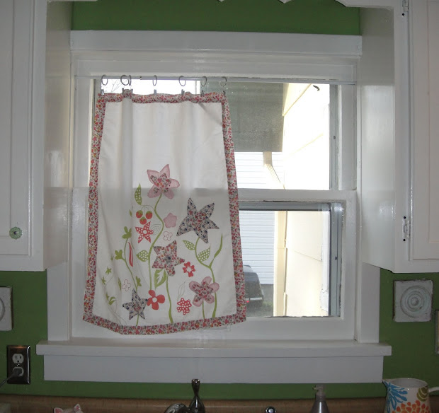 Mimi Bird Diy Sunday - Dish Towel Curtains