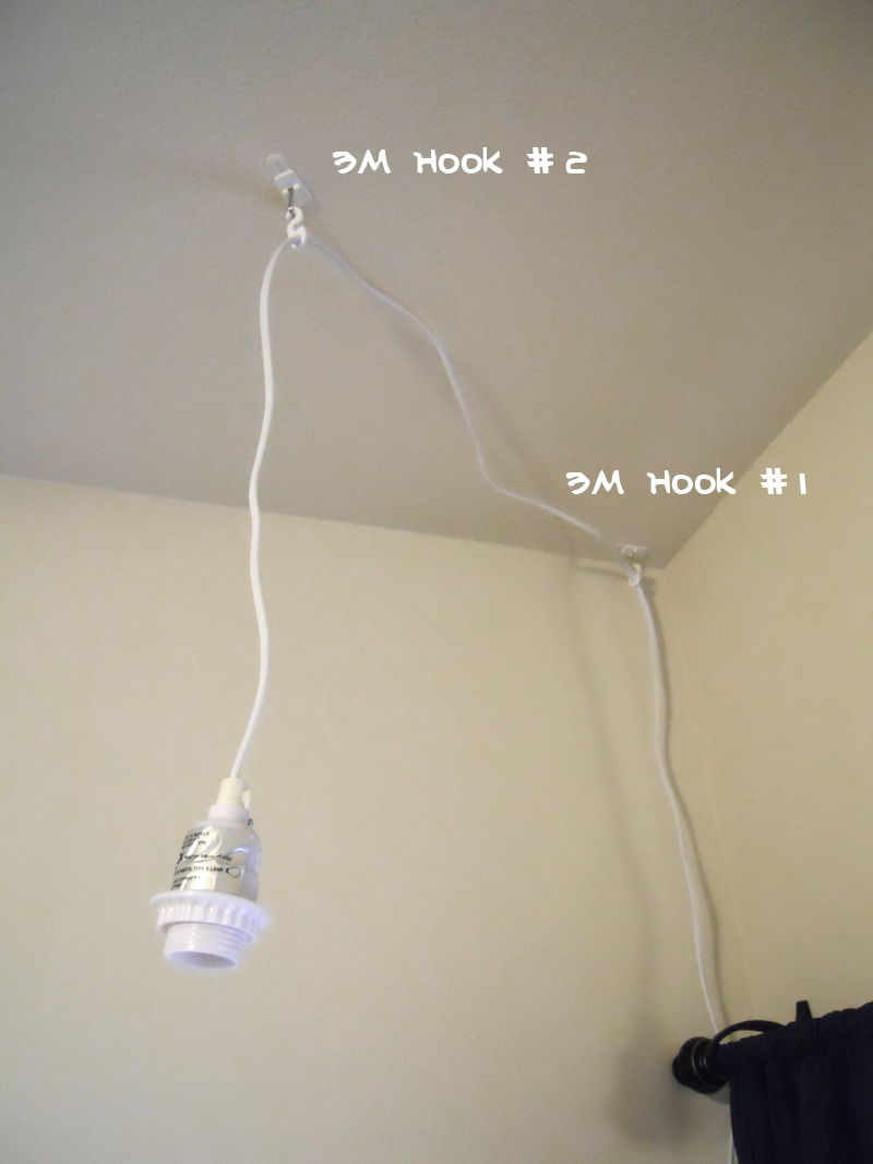 Meets Apartment How To Easily Install A Hanging Light Er Hang Lights From Ceiling