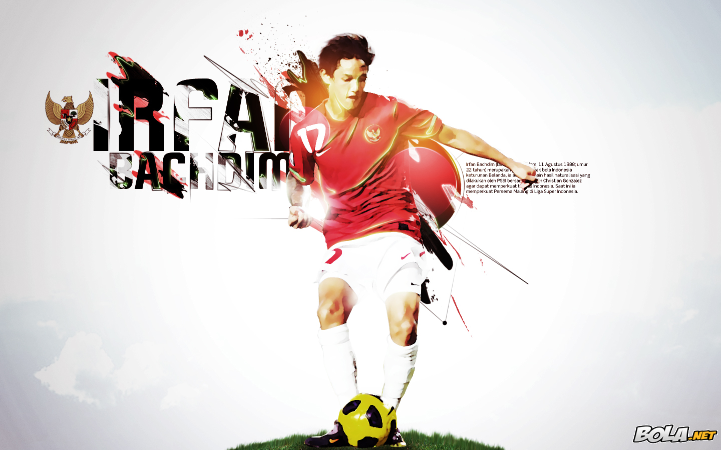 Wallpapers Timnas Indonesia: Wallpaper Timnas Indonesia: Irfan Bachdim