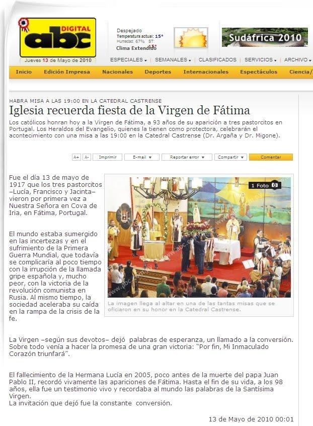No faltes hoy a tu cita con la Virgen de Fátima | Heraldos