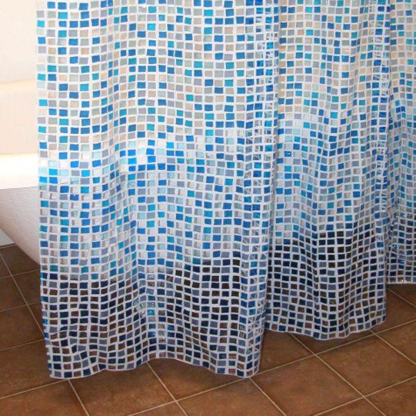 Blue Tiles Shower Curtain