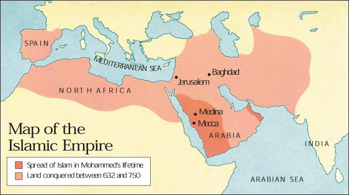 Muslim 1600 Map World